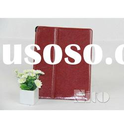 Red leather laptop protective case for iPad