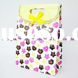 Ribbon fashion art paper gift bag