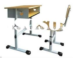 Shopping rush!!! Steel height adjustable school desk chair/School furniture reading desk