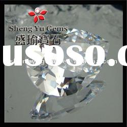 Simulated Diamond Cubic Zirconia Stone Machine Cut CZ CZPS0009 (2)