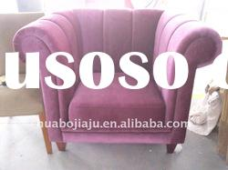 Single sofa(Malaysia rubber wood upholstery fabric HB-0555)