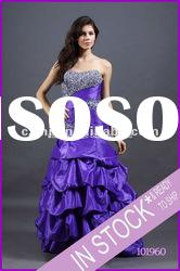 Spring 2012 new beaded pick up mermaid purple evening dresses for pregnant women