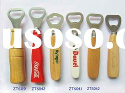 Stainless Steel Bottle Opener with Wooden Handle ZTS010