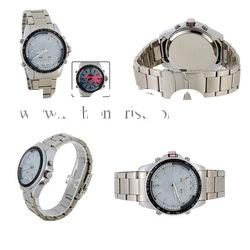 Stainless Steel Water-resistant Sports LED men's Watch