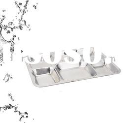 Stainless steel 6 grids food plate