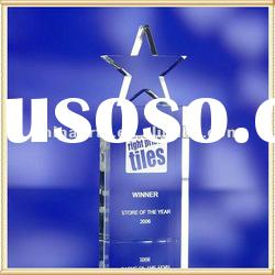 Star Top 3D Laser Engraving Crystal Award for Souvenir