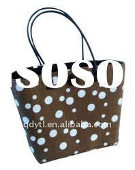 Sun's spot series-brown wheat straw beach bag