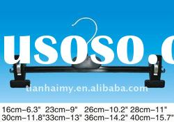 TH3007 plastic trousers hanger,plastic clips hangers,plastic pants hangers,bottom hangers