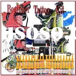 TOP 40 Inks Tattoo kits Tattoo machine kit Grips Needles Power Set Equipment Supplies