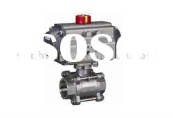 Three-piece Pneumatic Ball Valve Model:WB-Q611F
