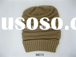 Top quality acrylic winter knitted hat fashion hats