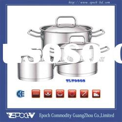 Top quality impact bonding(vertical bottom) stainless steel cookware set TL70602