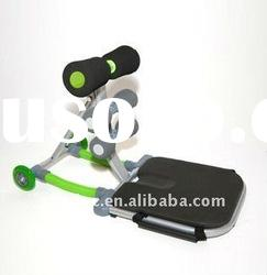 Total core, abdominal exercise machine,with digital counter and yoga ball