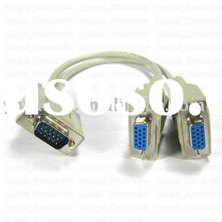 VGA DB15P male to female*2 Cable