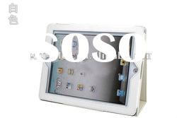 White Case Cover Protector PU LEATHER / Support Leather / Leather for Apple iPad2 3