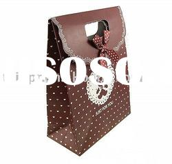 Wholesale paper gift bag (with ribbon decoration)