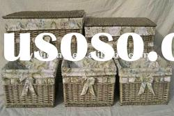 Wicker Storage Basket With Lining Xmas Gift Hamper In different sizes
