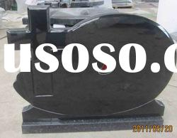 absolute black cross granite headstone and tombstone( china black)