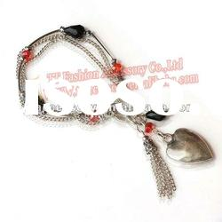 acrylic chain bracelets& bangles with alloy charms design