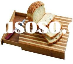 bamboo bread cutting board with tray, Chopping board