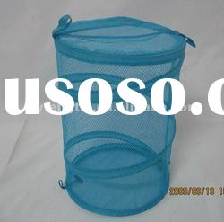 blue pop up mesh laundry basket with handles FTX-035