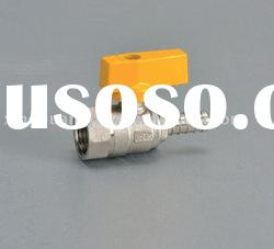 brass gas valve with high quality butterfly handle ISO CE