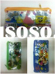 cartoon design PVC pencil case/pencil bag/pencil pouch