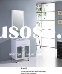 ceramic basin free standing mirrored PVC bathroom cabinets