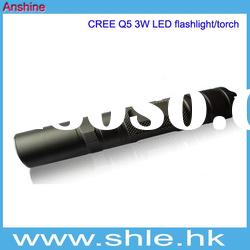 cree 3w led rechargeable flexible wind up torch with li-ion battery