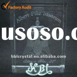 eagle 3d laser crystal paperweight