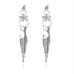 fashion alloy earring with cz sotnes