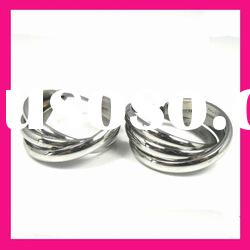 fashion stainless steel wire three circle hoop earrings jewelry for women