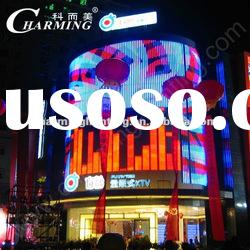 high quality led outdoor full color rental curtain display