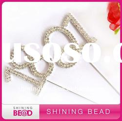 hot sale rhinestone cake topper for wedding party