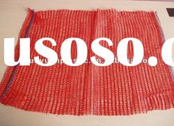 knitted plastic mesh bags with drawstring for firewood