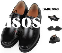 lastest men's black leather shoes with high quality