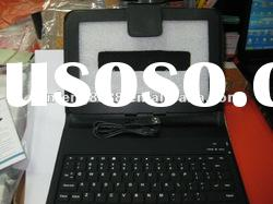 leather case with wireless bluetooth keyboard for ipad2