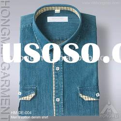 men's cotton jeans denim shirt