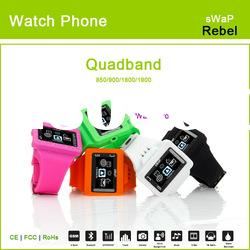newest colorful quadband mini cell phone watch (CE FCC RoHS)