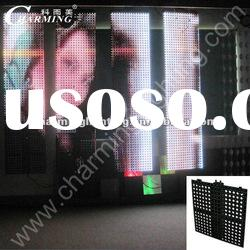 outdoor and indoor rgb led curtain display screen
