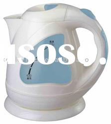 plastic cordless electric kettle 1.5l with water window