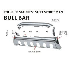 "polished stainless steel sportsman 3""bull bar for Ford/Dodge/GMC/Chevy"