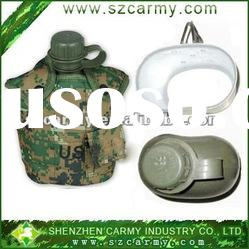 Military Canteen on Polymer Plastic Army Bottle  Portable Military Canteen Set With