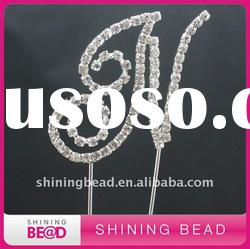 rhinestone letter cake topper for birthday party