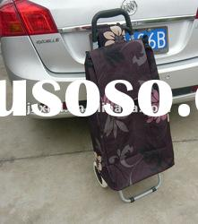 spring 2012 new style foldable small shopping trolley wheel bag 60L
