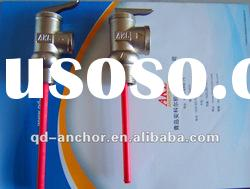 temperature and safety brass valve with nickel plated