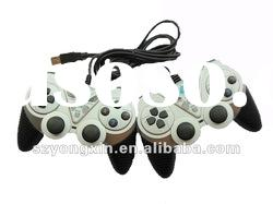 twin game controller wired dual shock for pc usb