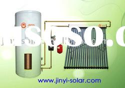 vacuum tube solar water heater with tank, solar collector and pump station