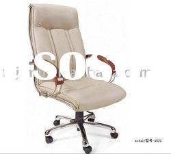 white synthetic leather classical economic office design executive chair
