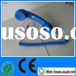 wholesale funny cell phone accessories retro phone handset for all 3.5mm mobile phone